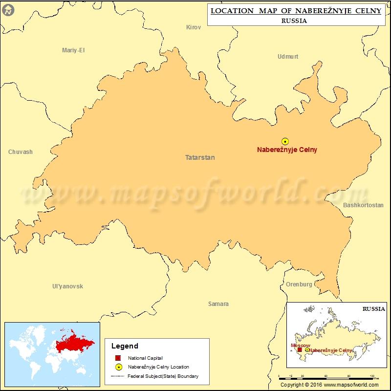 Where is Nabereznyje Celny