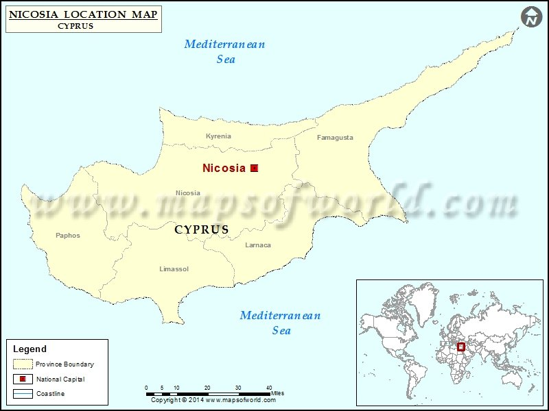 Where Is Nicosia Location Of Nicosia In Cyprus Map - nicosia map