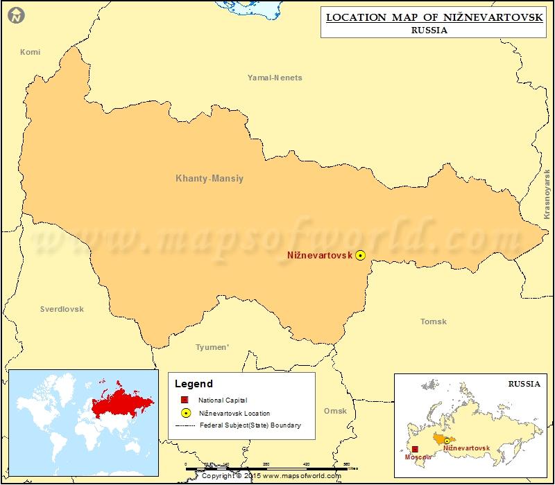 Where is Niznevartovsk