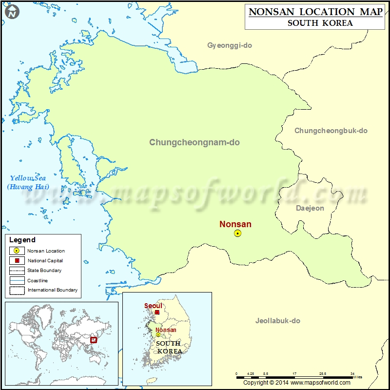 Where is nonsan location of nonsan in south korea map where is nonsan gumiabroncs Choice Image