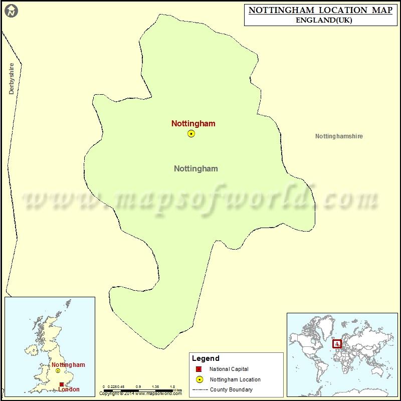 Map Of Uk Nottingham.Where Is Nottingham Location Of Nottingham In England Map