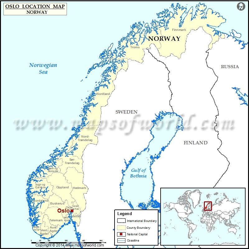 Where Is Oslo Location Of Oslo In Norway Map - Where is norway