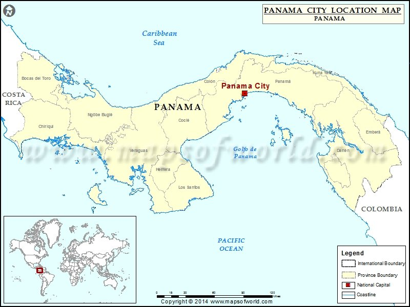 Where is Panama City | Location of Panama City in Panama Map
