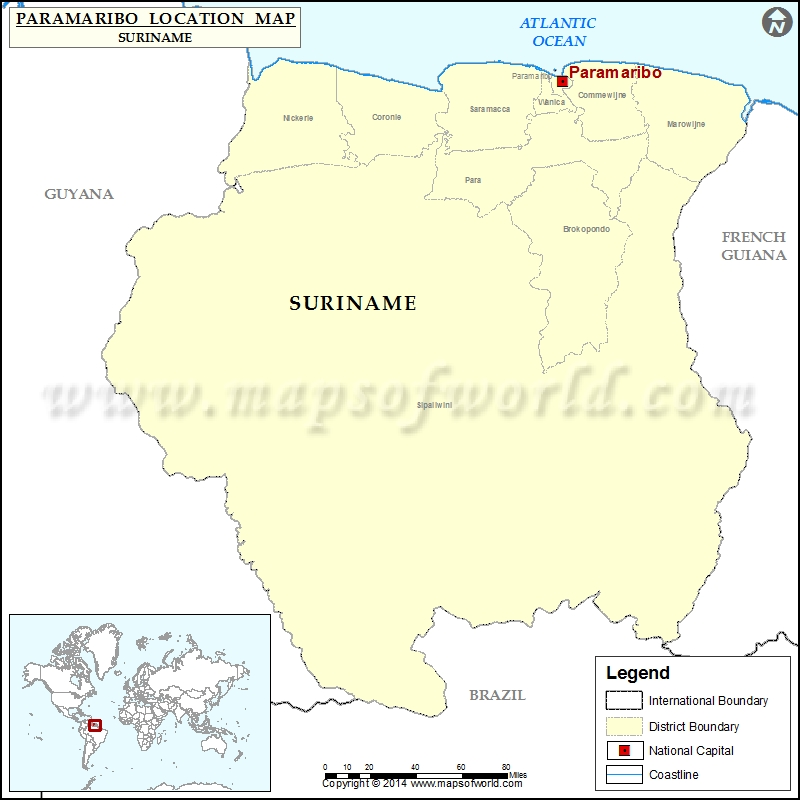 Where is Paramaribo