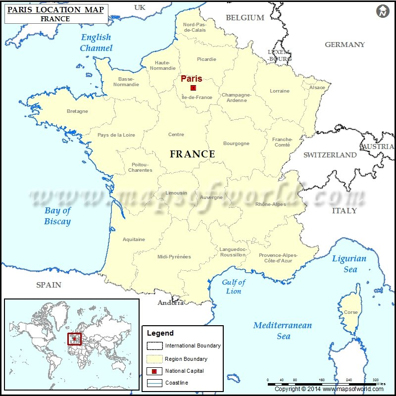 Where is Paris Location of Paris in France Map