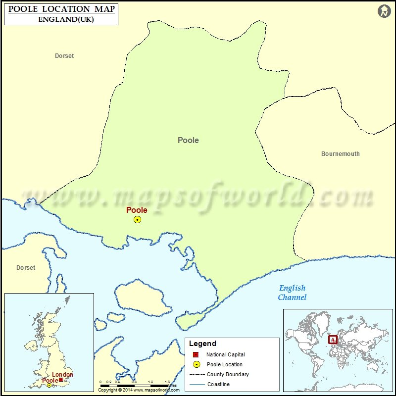 Poole England Map.Where Is Poole Location Of Poole In England Map
