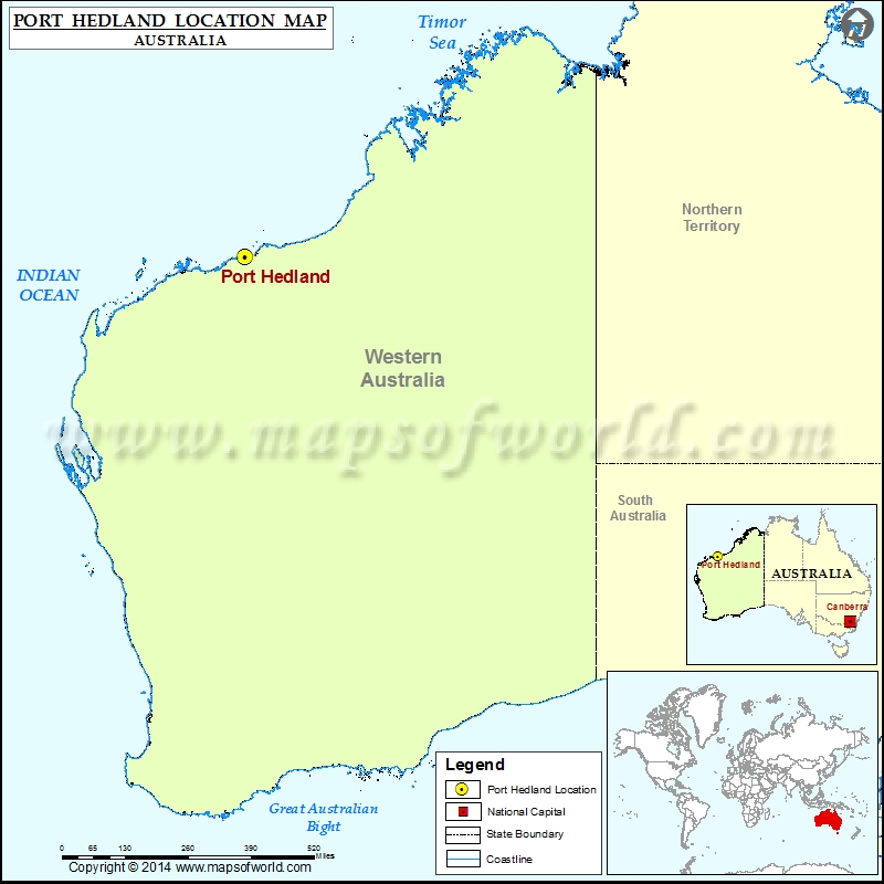 Port Hedland on tanzania location map