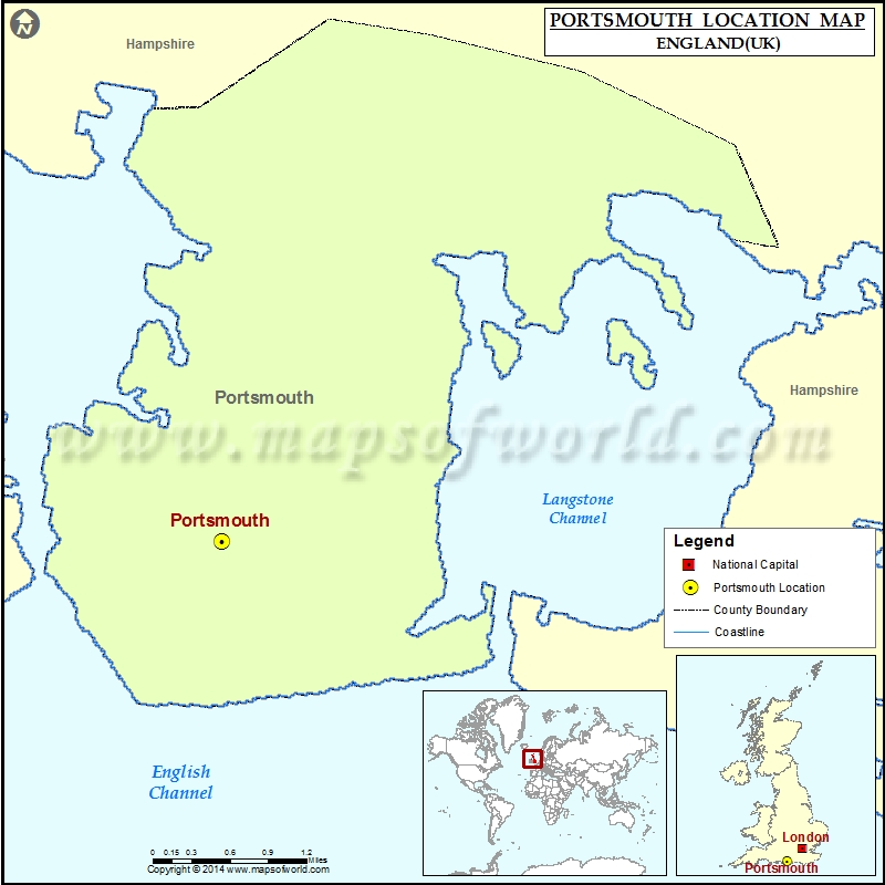 Map Of England Portsmouth.Where Is Portsmouth Location Of Portsmouth In England Map
