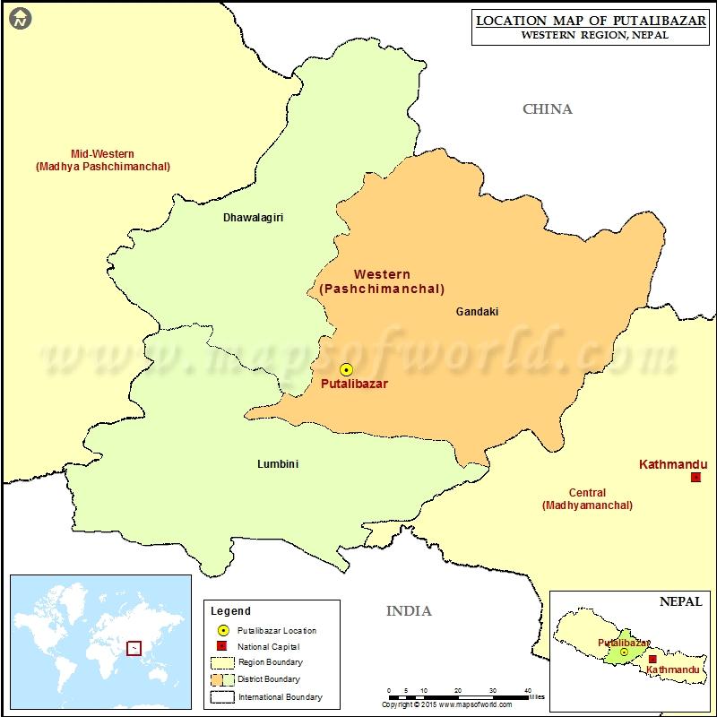 Location of Putalibazar in Nepal Map