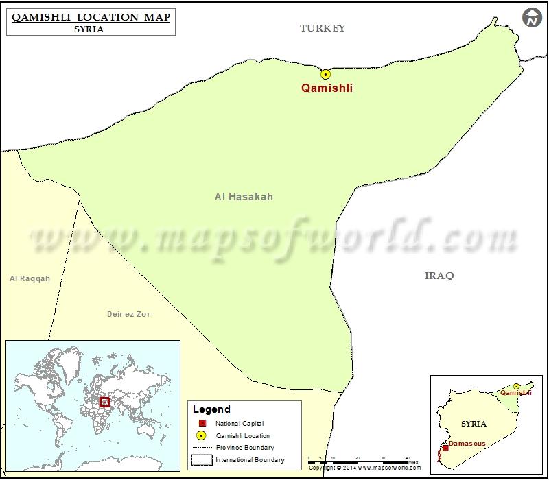 Where Is Qamishli Location Of Qamishli In Syria Map - Qamishli map