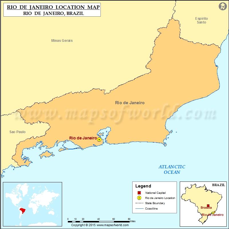 Where is Rio de Janeiro Location of Rio de Janeiro in Brazil Map