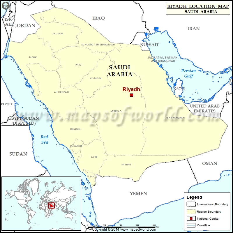 Where Is Riyadh Location Of Riyadh In Saudi Arabia Map - Where is saudi arabia on the world map