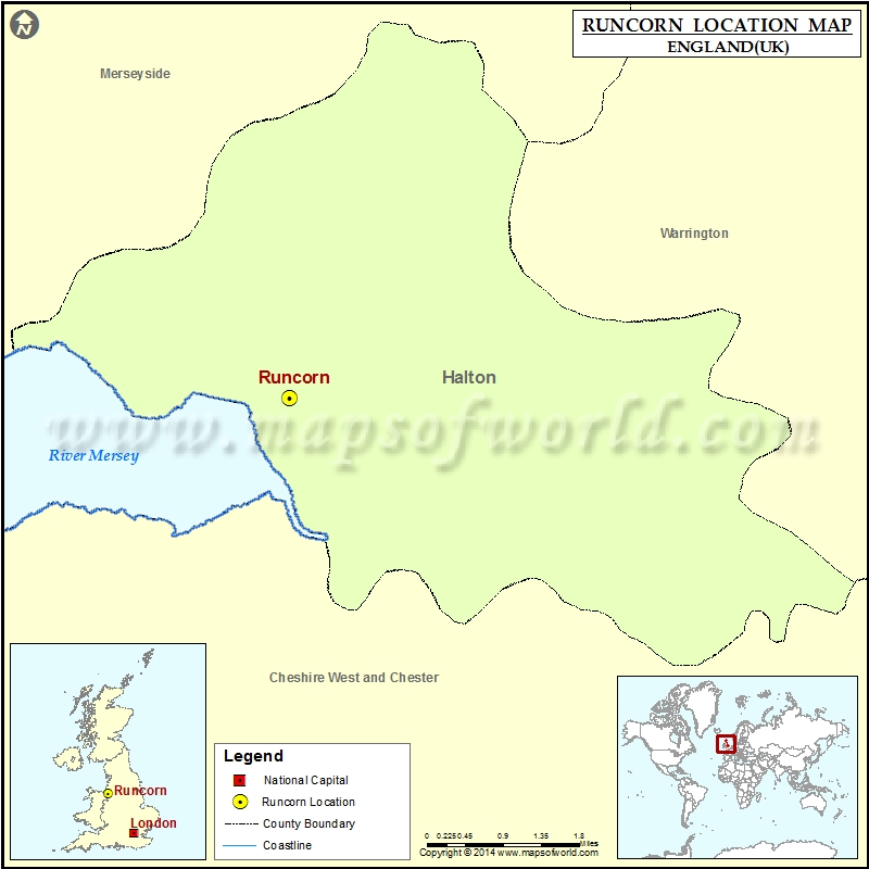 Where is Runcorn Location of Runcorn in England Map