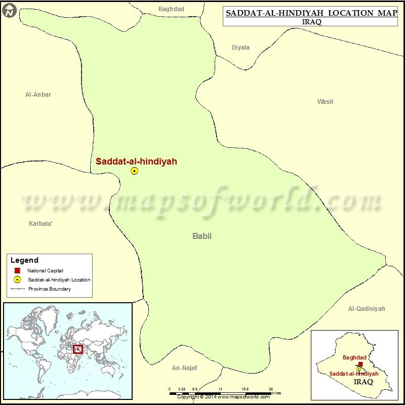 Where is Saddat al hindiyah