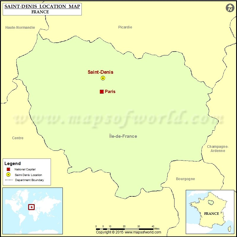 Saint Denis France Map.Where Is Saint Denis Located In France