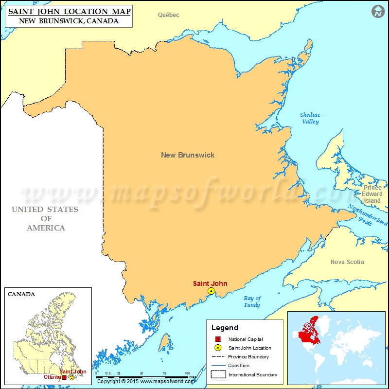 Where Is Saint John Located In Canada Map
