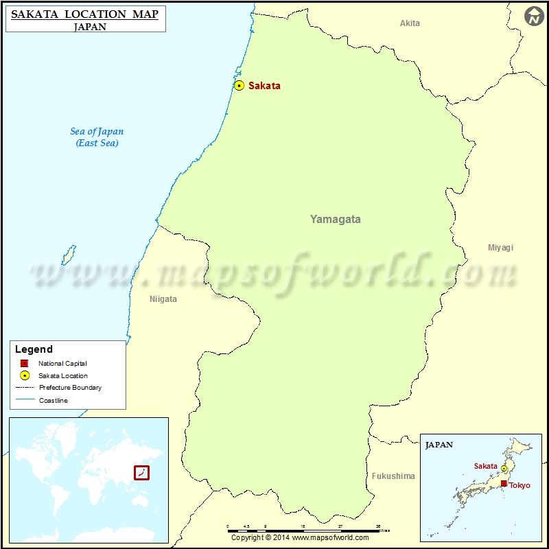 Where Is Sakata Location Of Sakata In Japan Map - Japan map legend