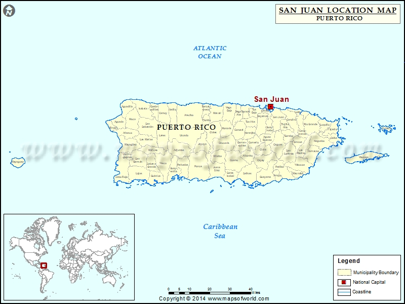 Where is San Juan | Location of San Juan in Puerto Rico Map