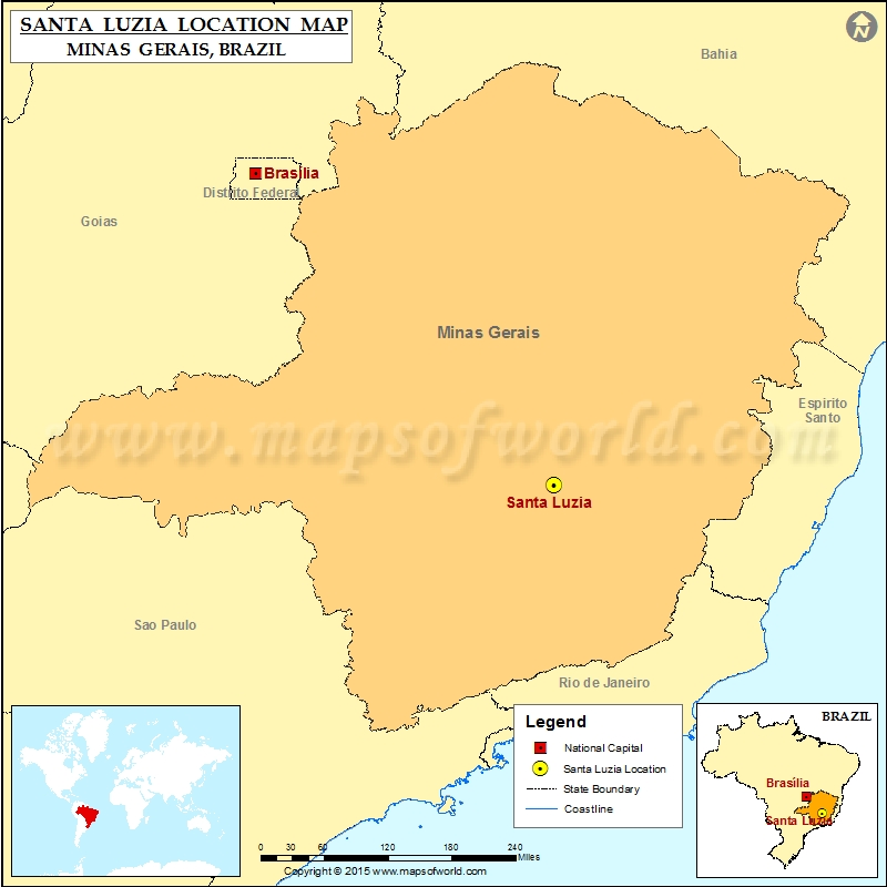 Where is Santa Luzia
