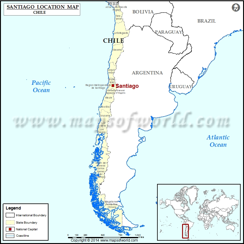where is santiago chile on the world map Santiago Where Is Santiago Location Of Santiago In Chile Map where is santiago chile on the world map