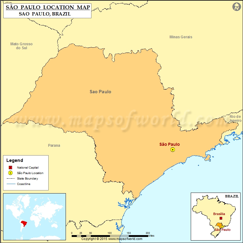 Where is Sao Paulo | Location of Sao Paulo in Brazil Map