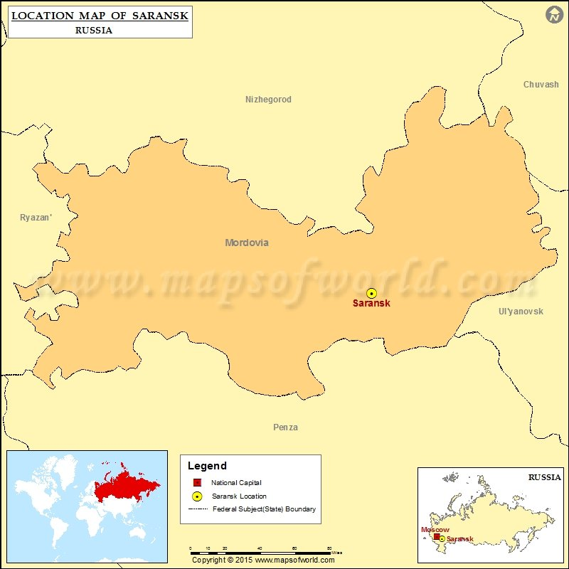 Where is Saransk | Location of Saransk in Russia Map