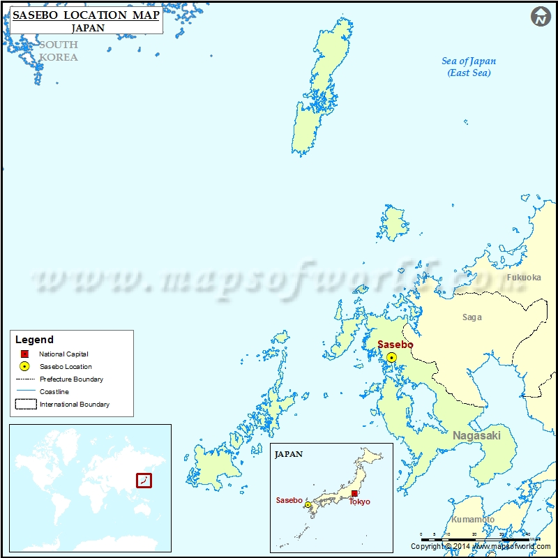 Where is Sasebo | Location of Sasebo in Japan Map