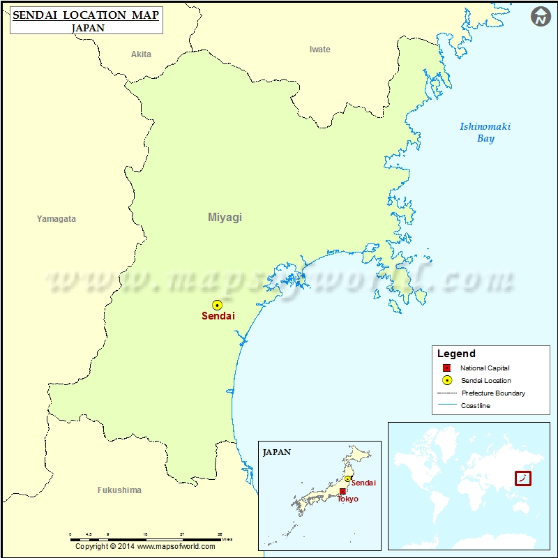 Where is Sendai Location of Sendai in Japan Map