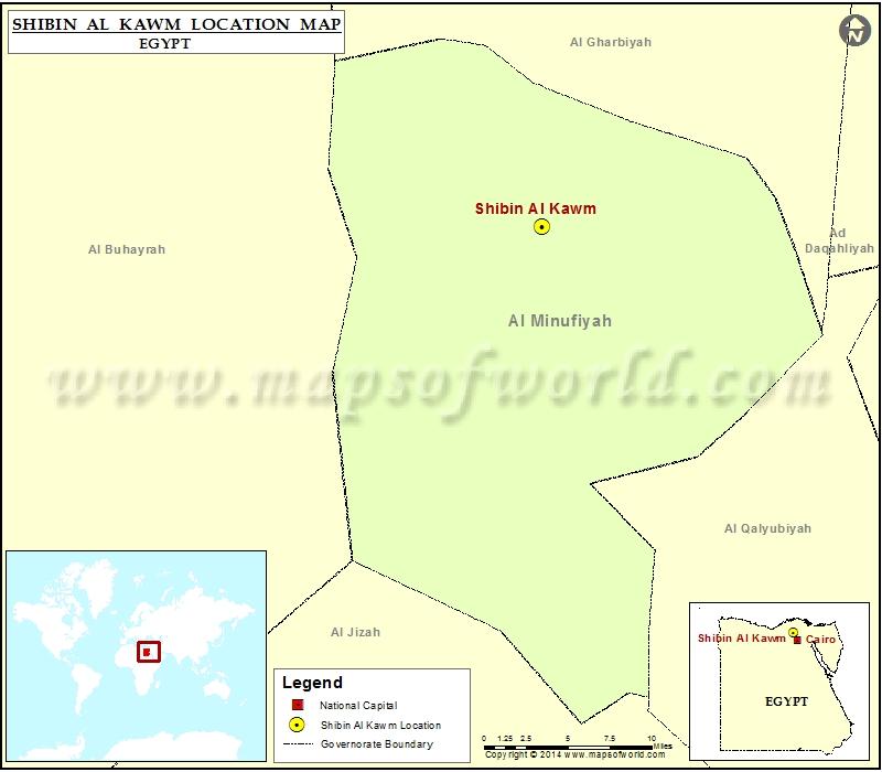 Where is Shibin Al Kawm