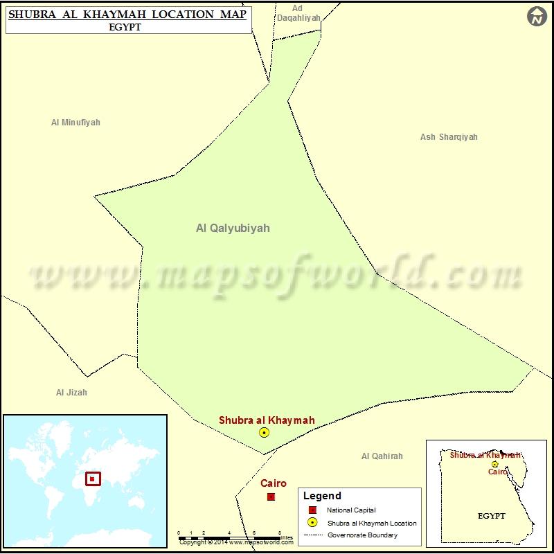 Where is Shubra alKhaymah Location of Shubra alKhaymah in Egypt Map