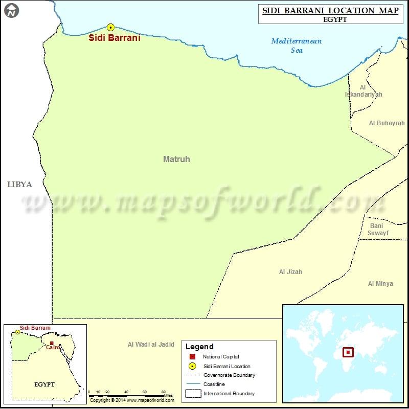 Where is Sidi Barrani Location of Sidi Barrani in Egypt Map