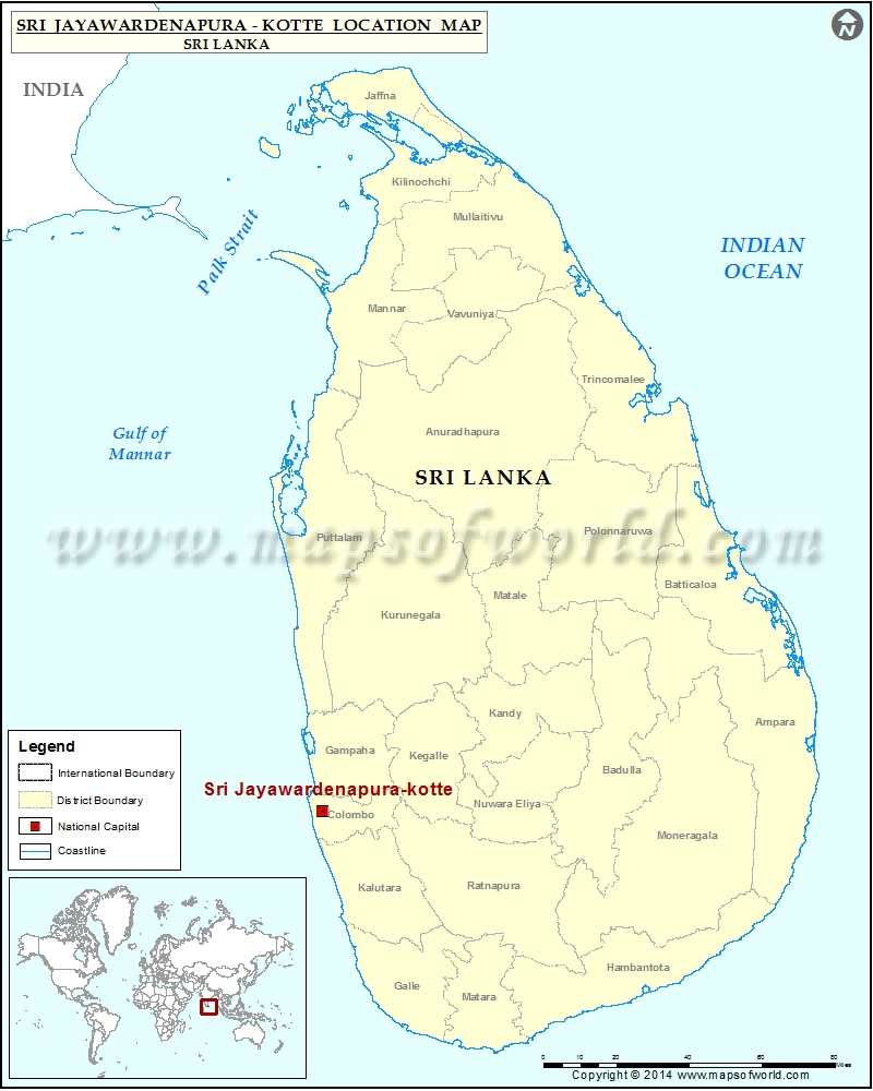 Where is Sri Jayawardenapura-kotte