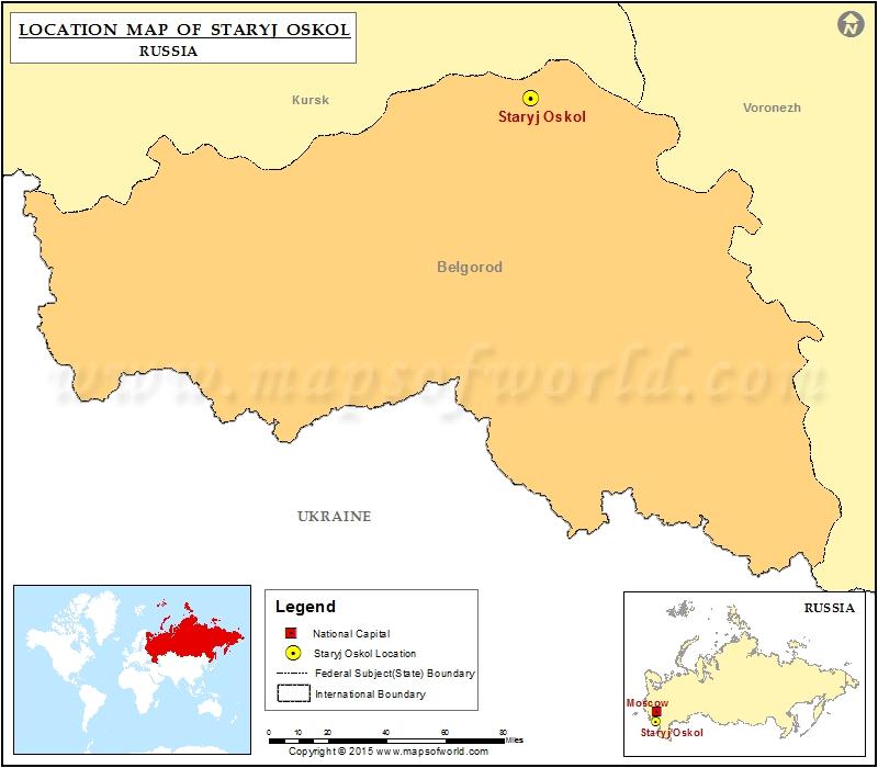 Where is Staryj Oskol