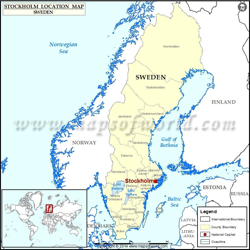 Where is Stockholm | Location of Stockholm in Sweden Map