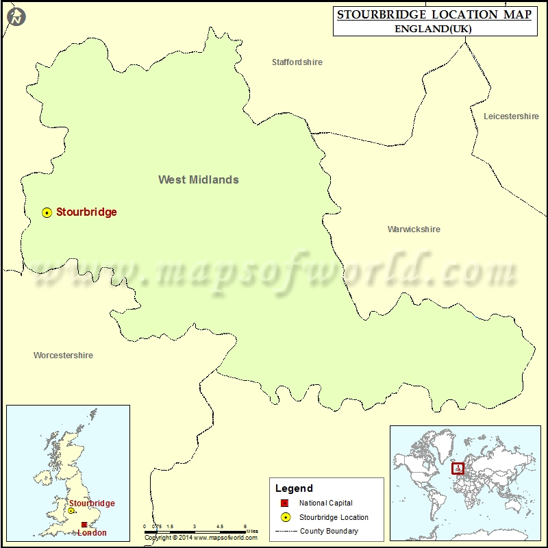 Where is Stourbridge Location of Stourbridge in England Map