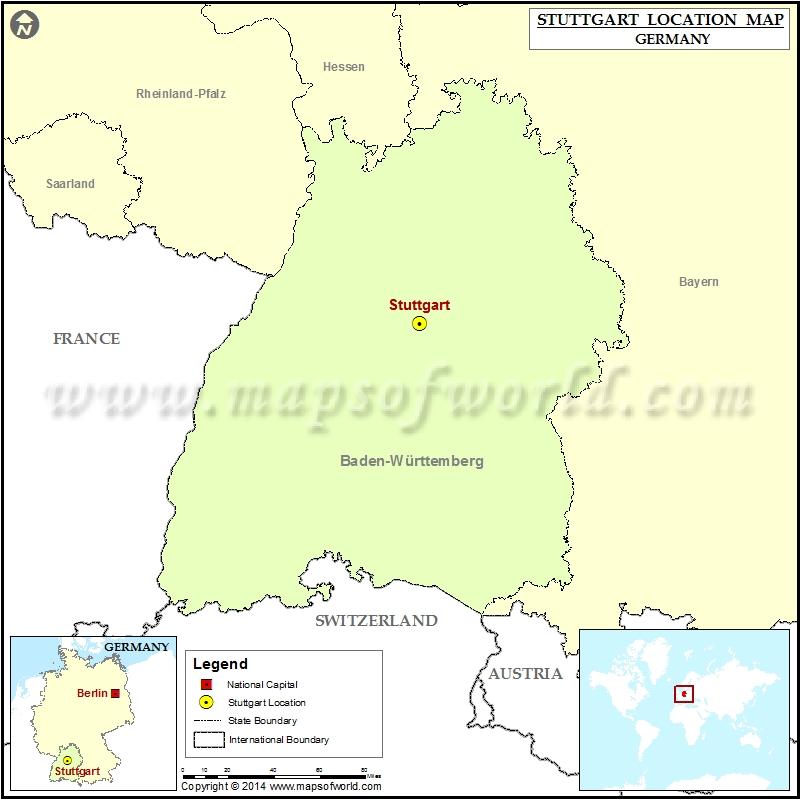 Stuttgart Map Of Germany.Where Is Stuttgart Location Of Stuttgart In Germany Map