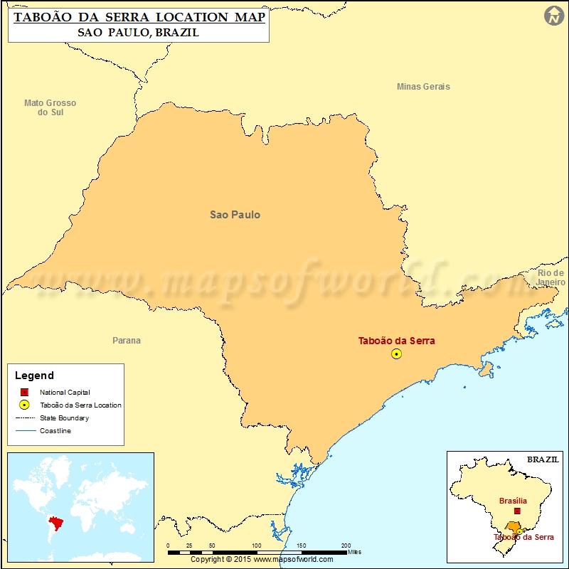 Where is Taboao da Serra