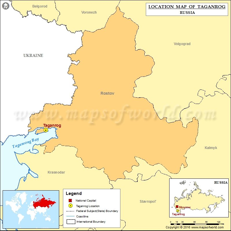 Where Is Taganrog Location Of Taganrog In Russia Map