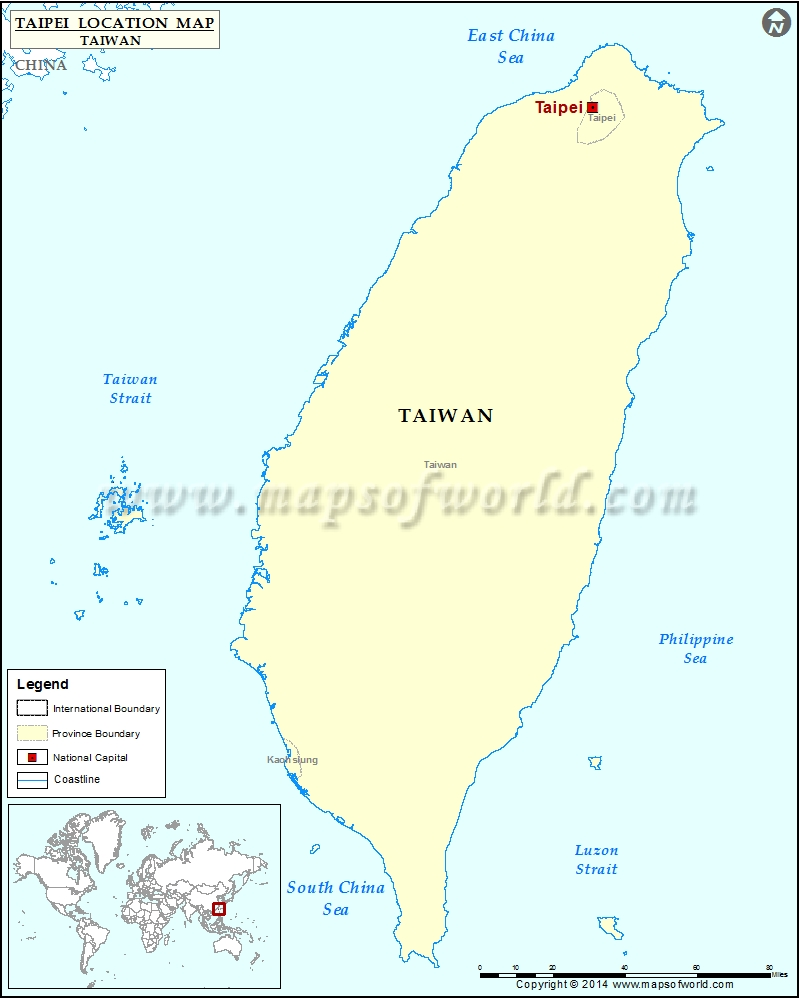 Where is Taipei | Location of Taipei in Taiwan Map