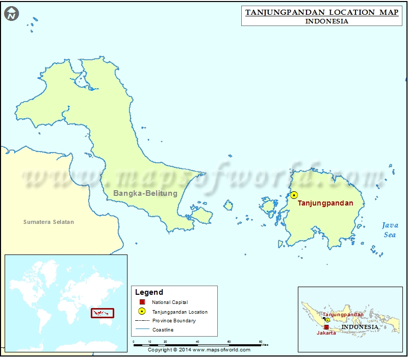 Where is Tanjungpandan