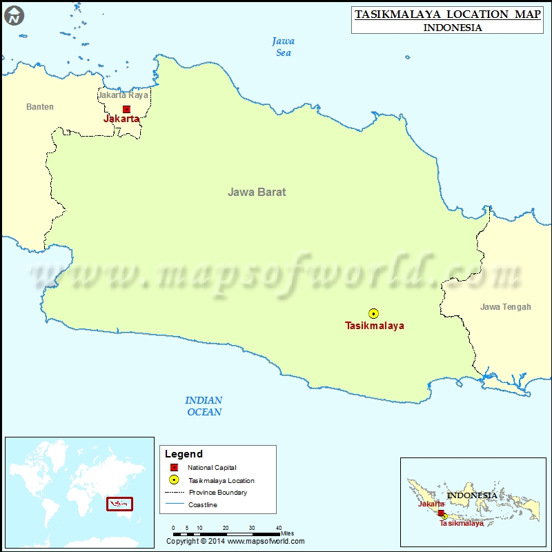 Where is Tasikmalaya Location of Tasikmalaya in Indonesia Map