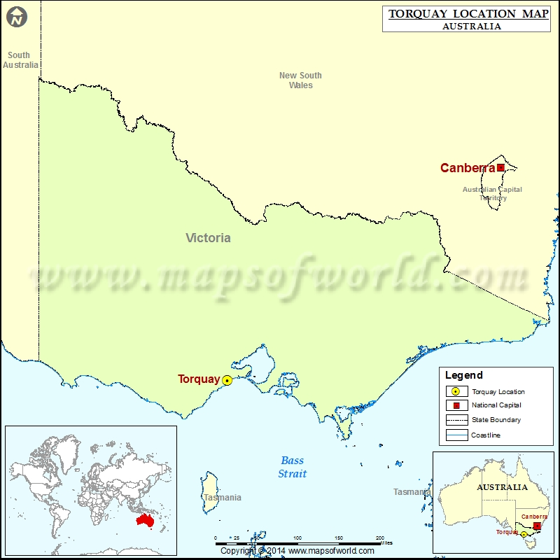 Where is Torquay Location of Torquay in Australia Map