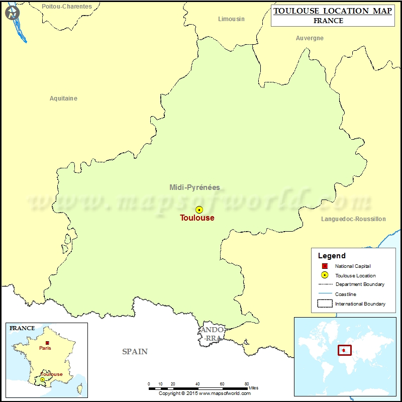 Where is Toulouse Located in France