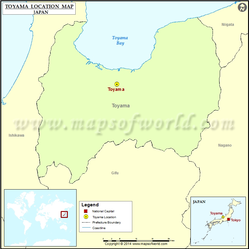 Where is Toyama Location of Toyama in Japan Map