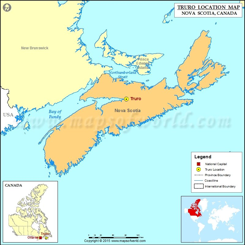 Where is Truro Located in Canada Map