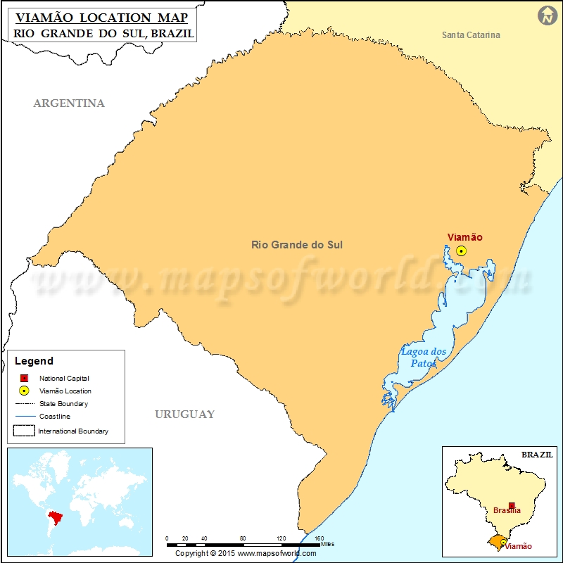 Where is Viamao Location of Viamao in Brazil Map