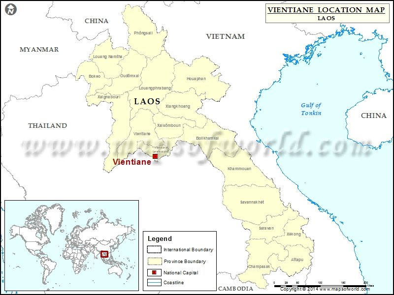 Where is Vientiane