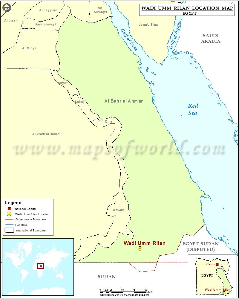 Where is Wadi Umm Rilan