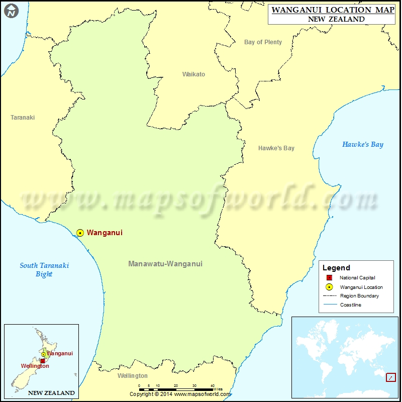 Where Is Wanganui In New Zealand Map.Where Is Wanganui Location Of Wanganui In New Zealand Map