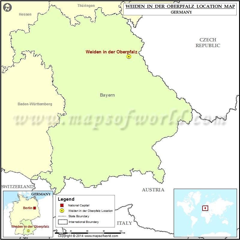 Where is Weiden in der Oberpfalz